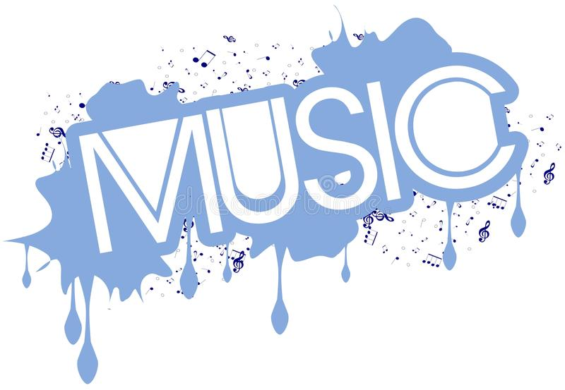 Cool Musical Background With Word Music Isolated Stock Vector Illustration of creative music