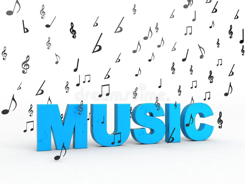 Download Music Word With Flying Musical Notes Stock Photos - Image: 8408133