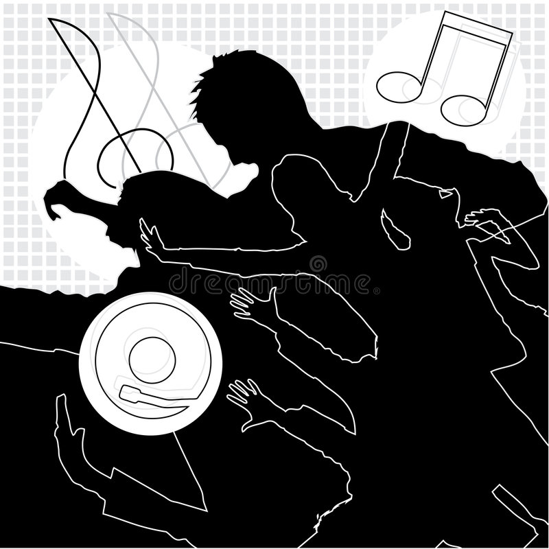 Download Musica, Ballo E Divertimento Illustrazione Vettoriale - Illustrazione di record, ballo: 7308593