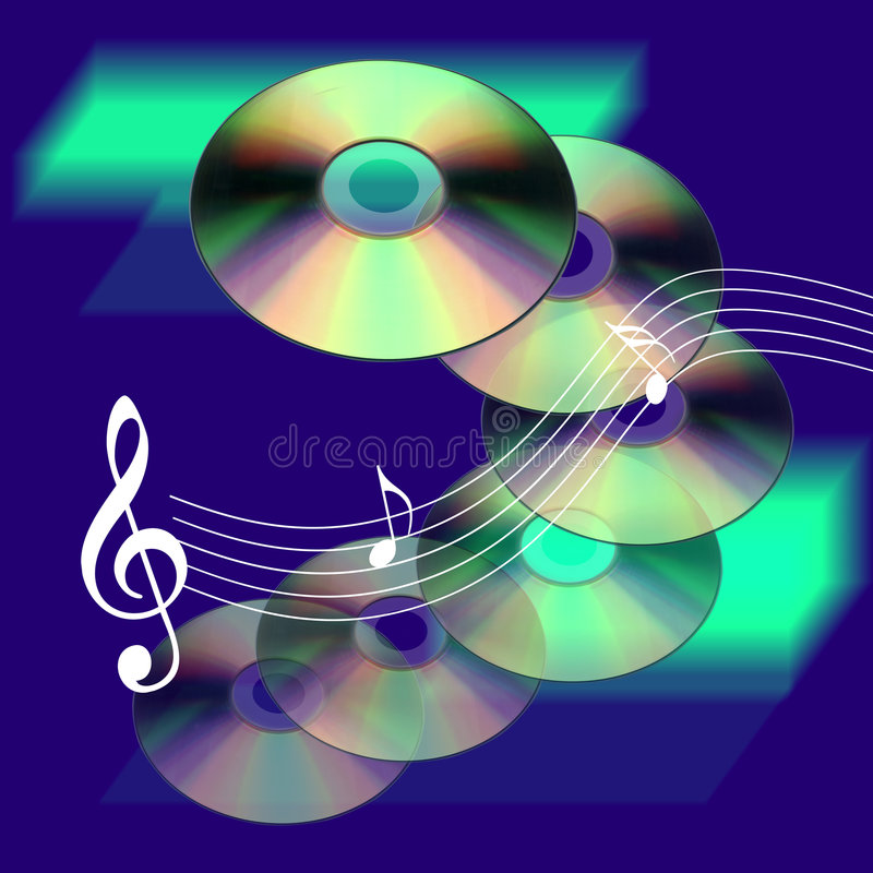 Musica Cd illustrazione vettoriale
