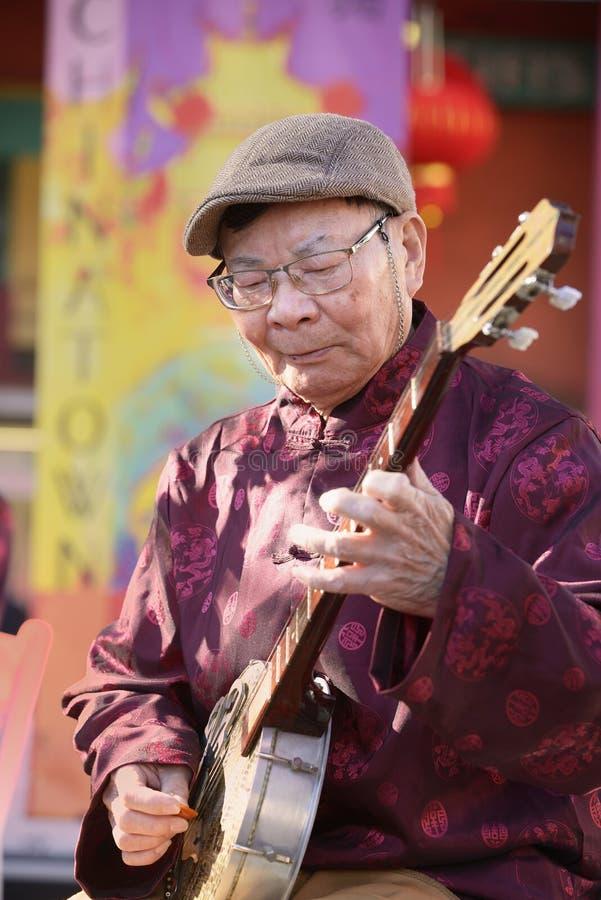 Musica classica cinese fotografia stock