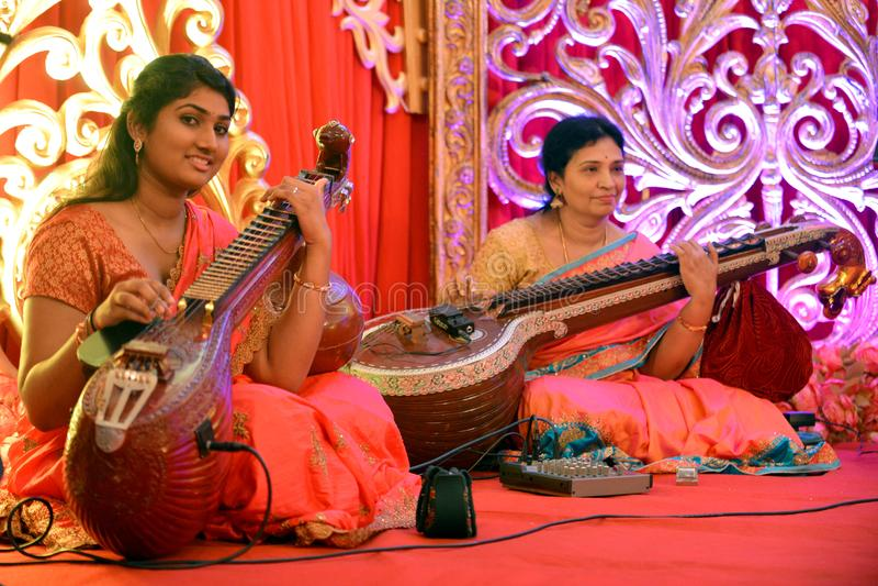 Musica classica indiana immagine stock