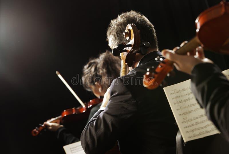 Musica classica. Violinisti di concerto fotografie stock libere da diritti