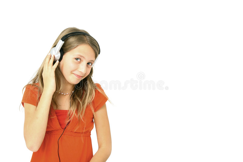Download Musica D'ascolto Della Ragazza Immagine Stock - Immagine di libertà, femmina: 7315055