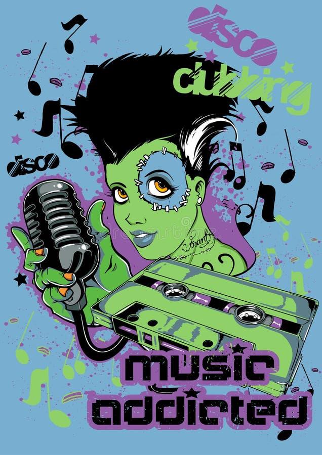 Musica dedicata royalty illustrazione gratis