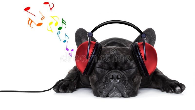 Musica del cane immagini stock