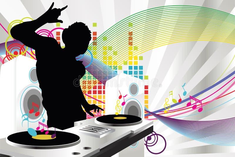 Musica del DJ royalty illustrazione gratis