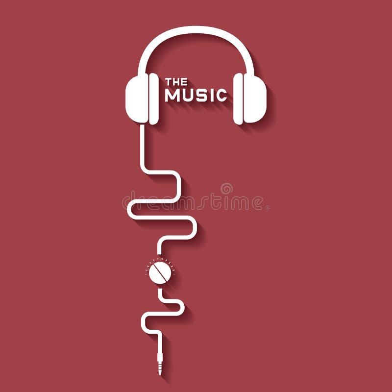 Musica del trasduttore auricolare royalty illustrazione gratis