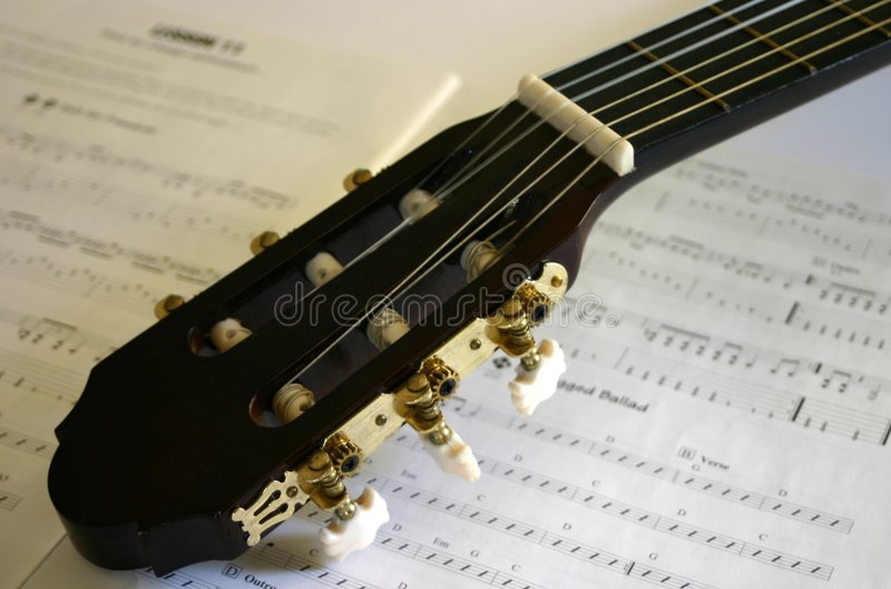 Musica della chitarra immagini stock libere da diritti