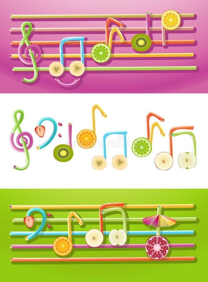 Musica della frutta illustrazione vettoriale