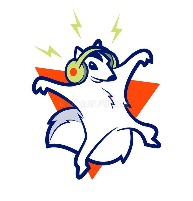 Musica dello scoiattolo illustrazione vettoriale