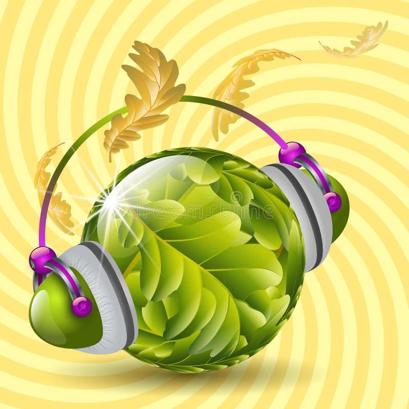 Musica di autunno illustrazione vettoriale