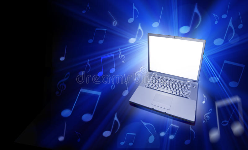 Musica di calcolatore immagini stock libere da diritti