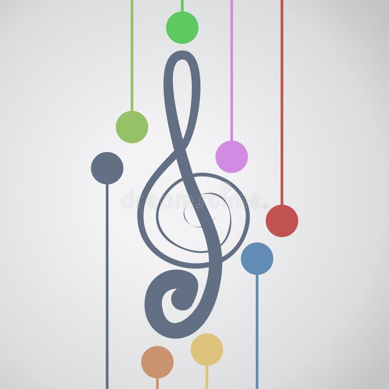 Musica di colore royalty illustrazione gratis