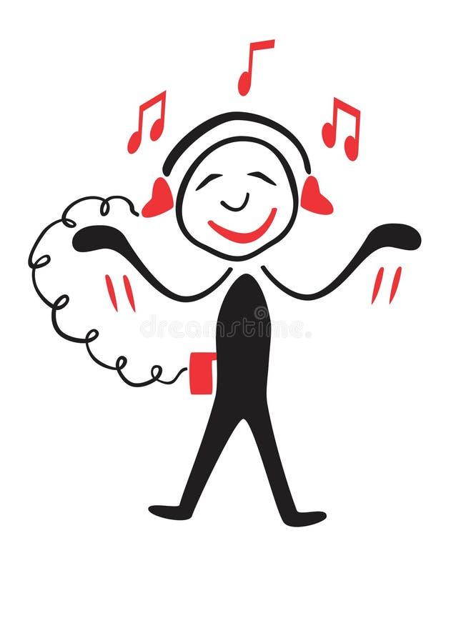 Musica di Fanat illustrazione di stock