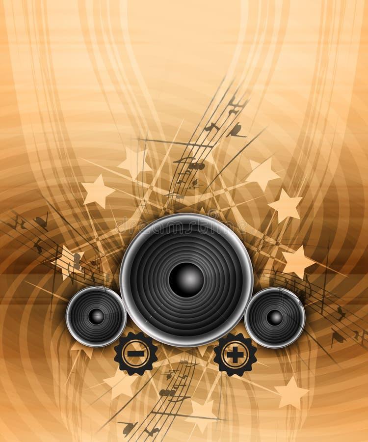 Musica di Grunge illustrazione di stock