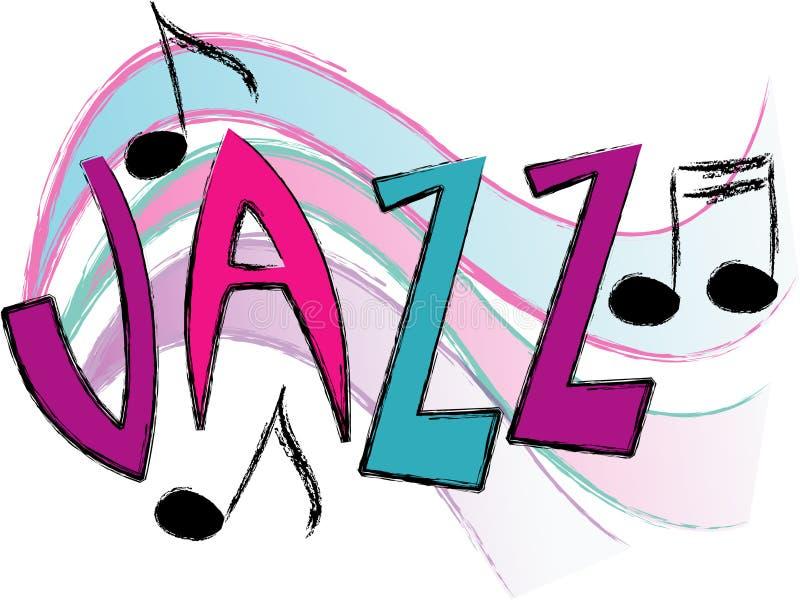 Musica di jazz/ENV illustrazione di stock