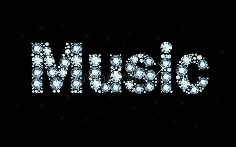Musica di parola del diamante immagini stock libere da diritti