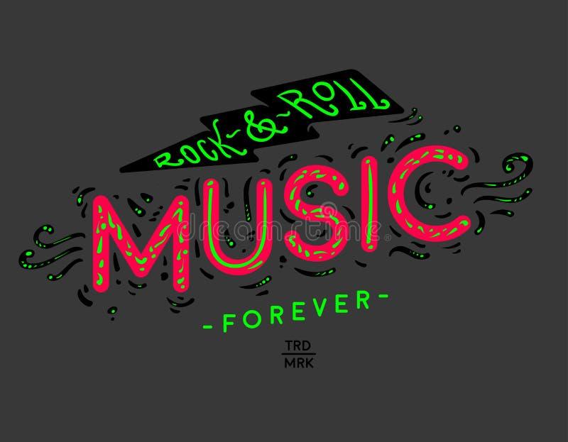 Musica di rock-and-roll illustrazione di stock