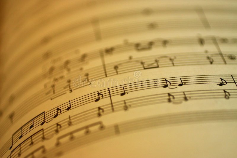 Musica di strato fotografia stock libera da diritti
