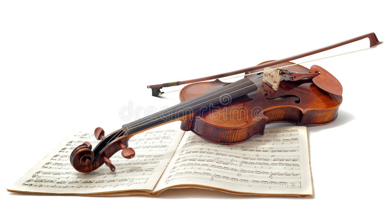 Musica di strato e del violino immagine stock libera da diritti