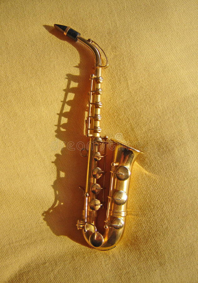 Musica do saxofone e fotografia de stock royalty free