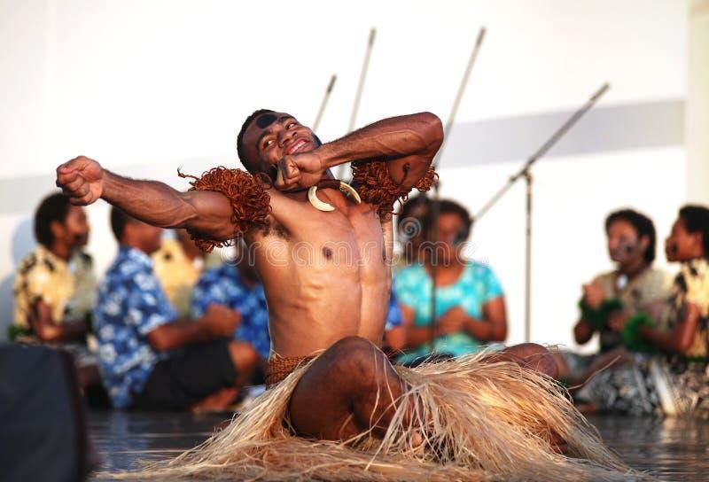 Musica e ballo del Fiji immagini stock libere da diritti