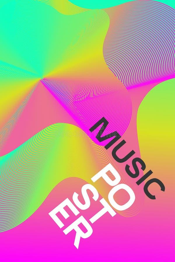 Musica elettronica del manifesto rosa illustrazione di stock