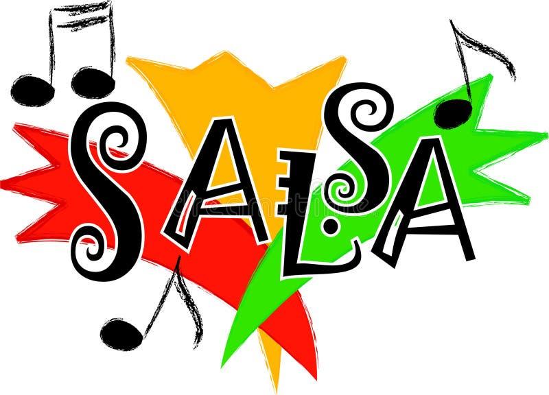 Musica/ENV della salsa illustrazione di stock