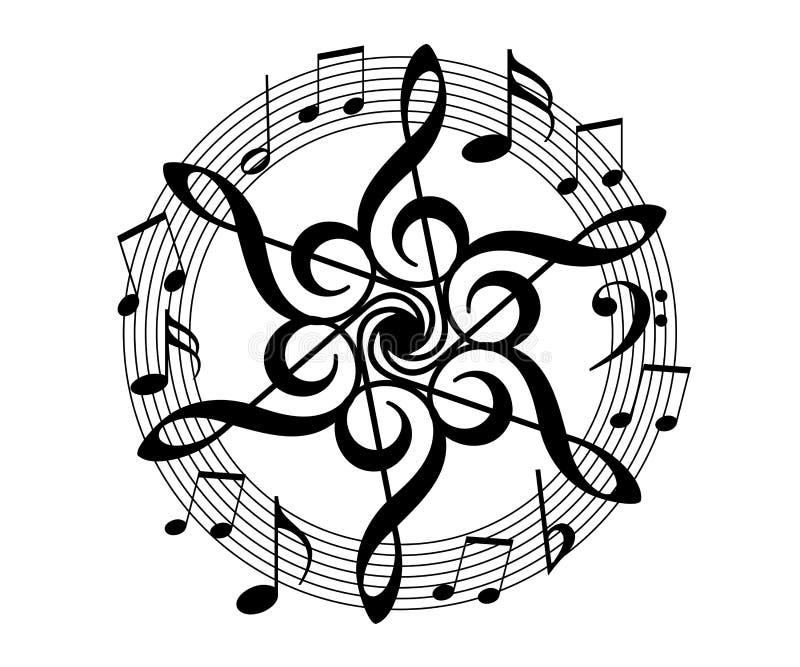 Musica floreale illustrazione di stock