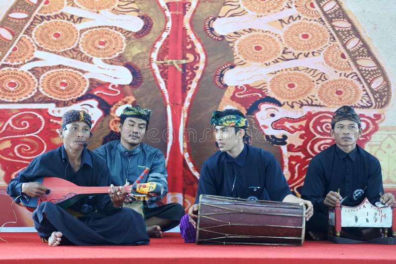 musica gamelan tradizionale di Sasak fotografia stock libera da diritti