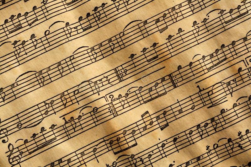 Musica invecchiata fotografia stock libera da diritti