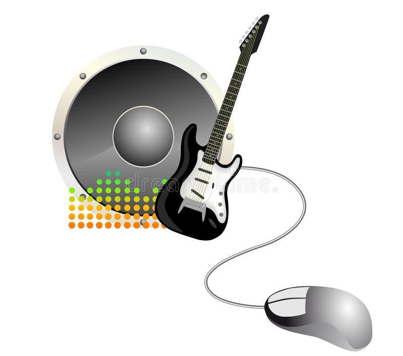 Musica in linea illustrazione di stock
