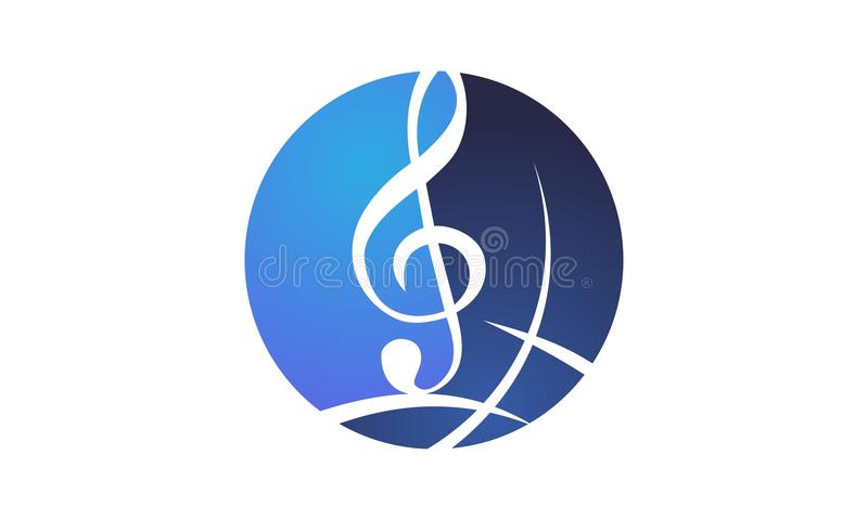 Musica Logo Design Template del mondo illustrazione di stock