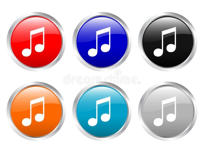 Musica lucida dei tasti royalty illustrazione gratis