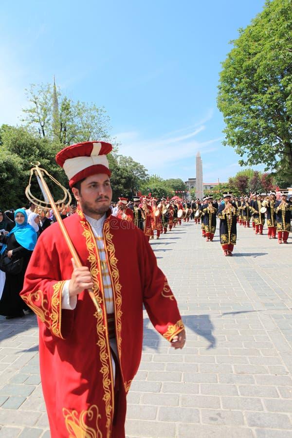 Musica militare dell'ottomano fotografie stock