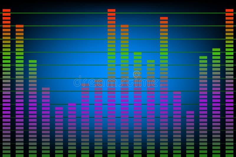 Musica o livelli acustici illustrazione di stock