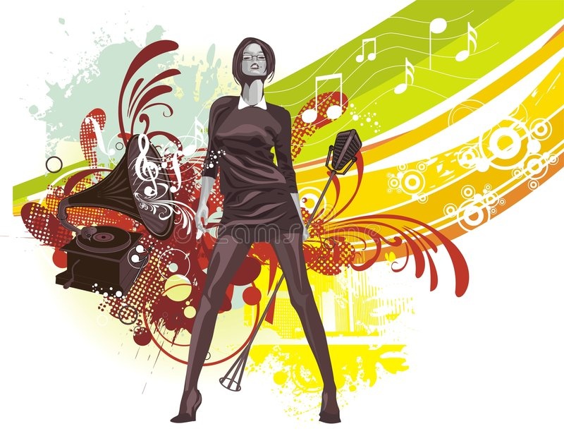 Musica-priorità bassa illustrazione di stock