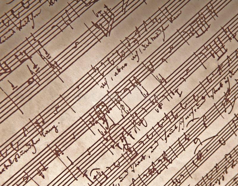 Musica scritta mano fotografie stock libere da diritti