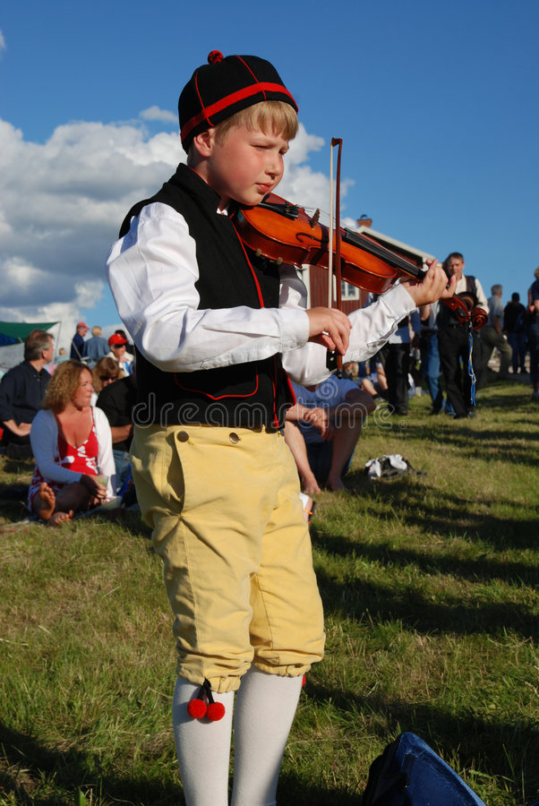 Musica in Svezia fotografie stock libere da diritti