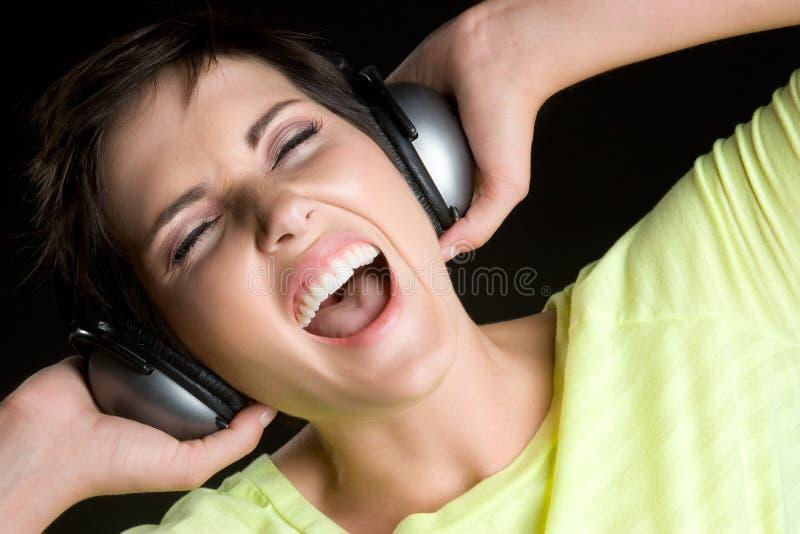 Musica teenager immagine stock