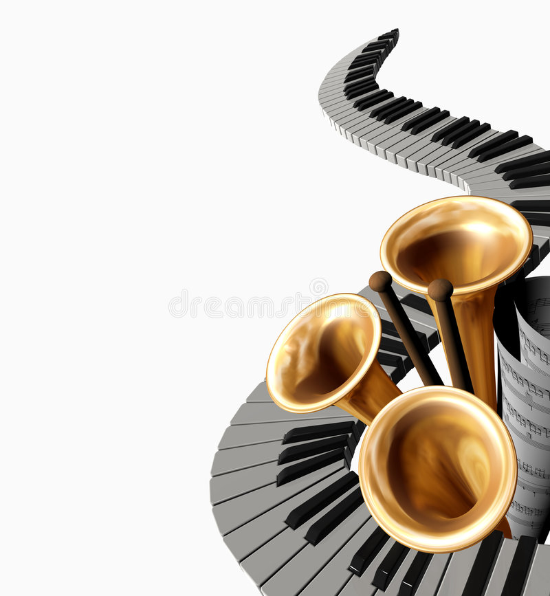 Musica tre illustrazione di stock