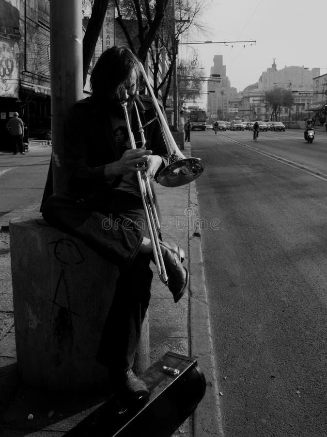 Musica-uomo fotografia stock