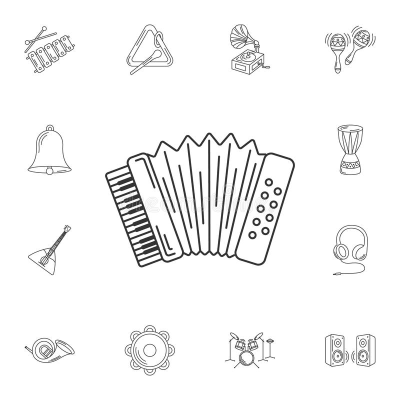 Musical accordion icon. Simple element illustration. Musical acc. Ordion symbol design from Musical collection set. Can be used for web and mobile on white royalty free illustration