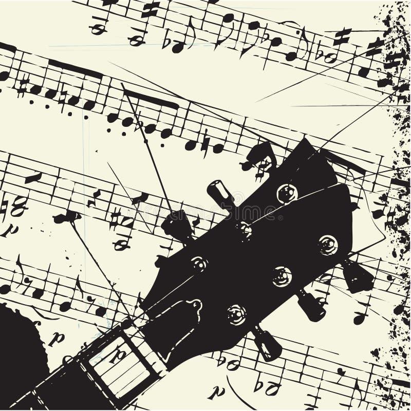 Musical astratto del grunge della chitarra royalty illustrazione gratis