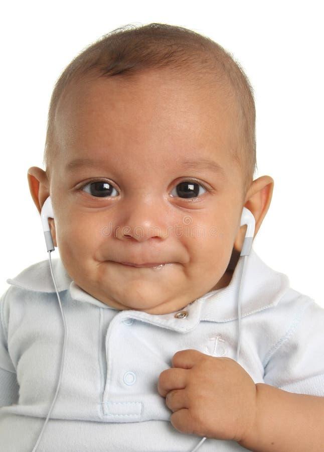 Musical baby boy royalty free stock photo