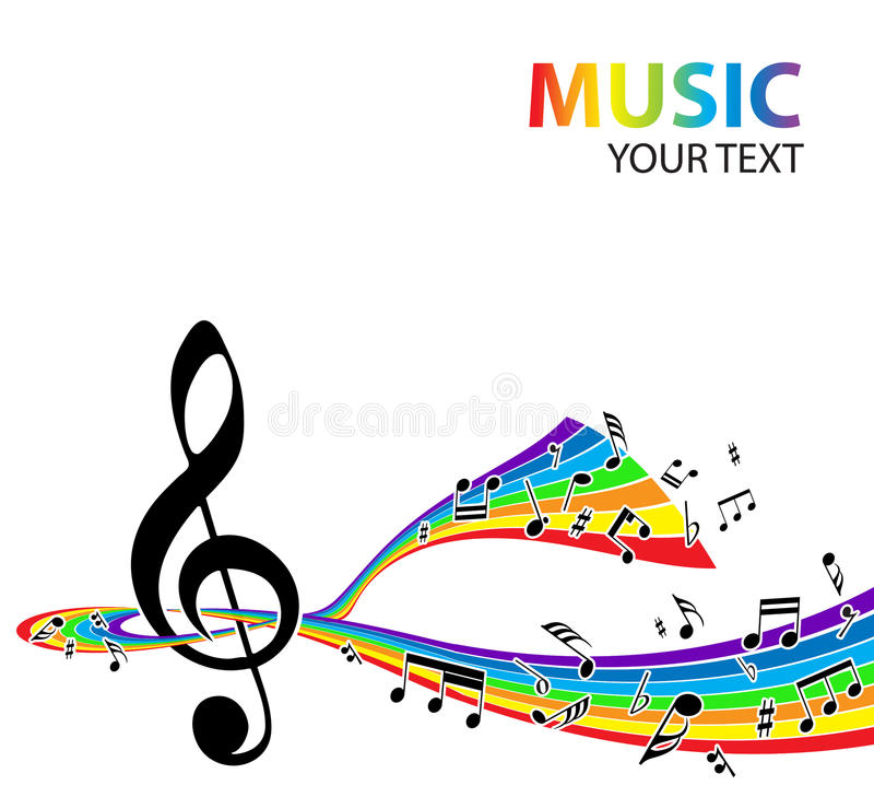 Musical background vector illustration
