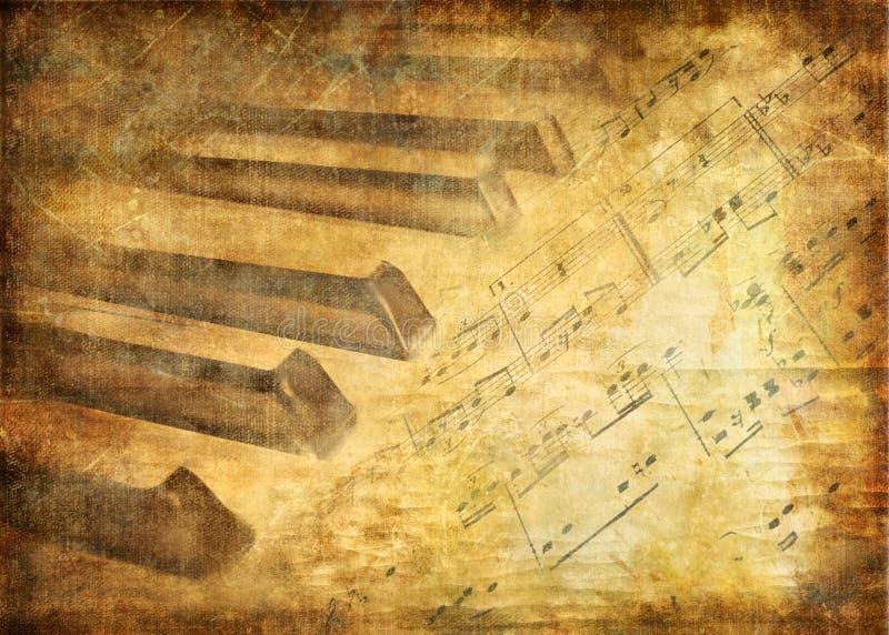 Musical background vector illustration