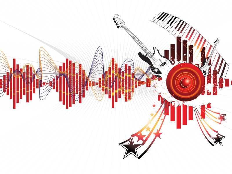 Download Musical background stock vector. Image of decorative, flayer - 8451291