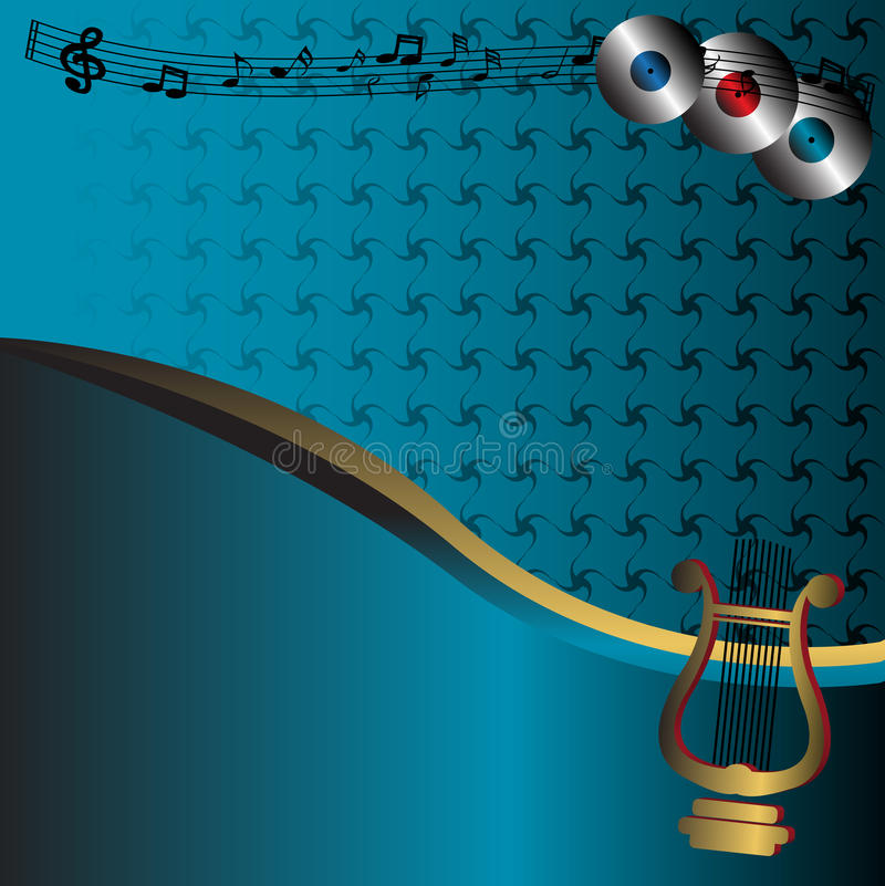 Download Musical Background With Harp Stock Vector - Image: 11418777
